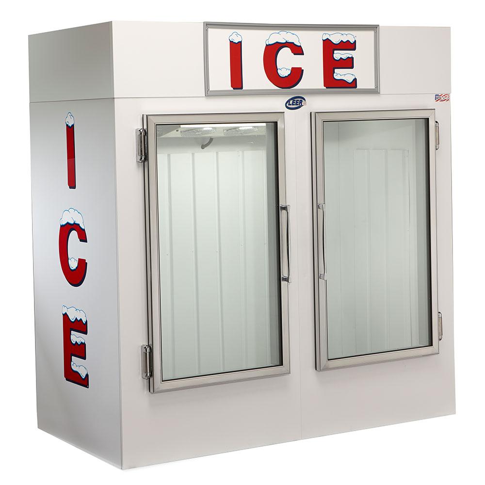 "Leer, Inc. L075UAGE 73"" Indoor Ice Merchandiser w/ (145) 10-lb Bag Capacity - White, 120v"