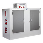 "Leer, Inc. L085UASE 84"" Outdoor Ice Merchandiser w/ (180) 10-lb Bag Capacity - White, 120v"