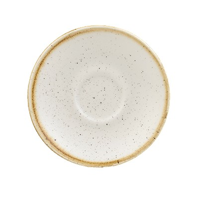 Churchill SWHSESS1 4.5 Stonecast Espresso Saucer - Cerami...