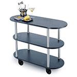 Geneva 36200 Oval Dessert Cart w/ Multi-Tiered Design