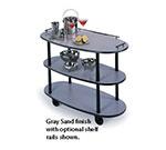 Geneva 36300 Oval Dessert Cart w/ Multi-Tiered Design