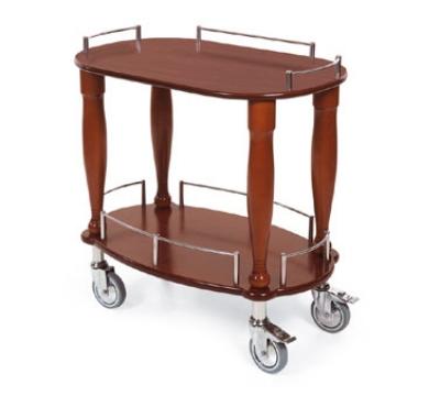 Geneva 70010 Oval Dessert Cart w/ Multi-Tiered Design