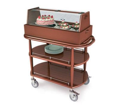 Geneva 70355 Oval Dessert Cart w/ Display Case Design