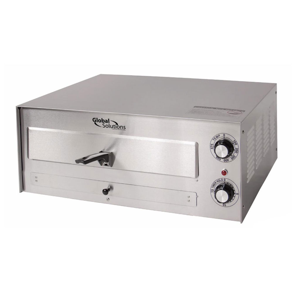 Global Solutions GS1010 Global Solutions Countertop Pizza Oven - Single Deck, 120v