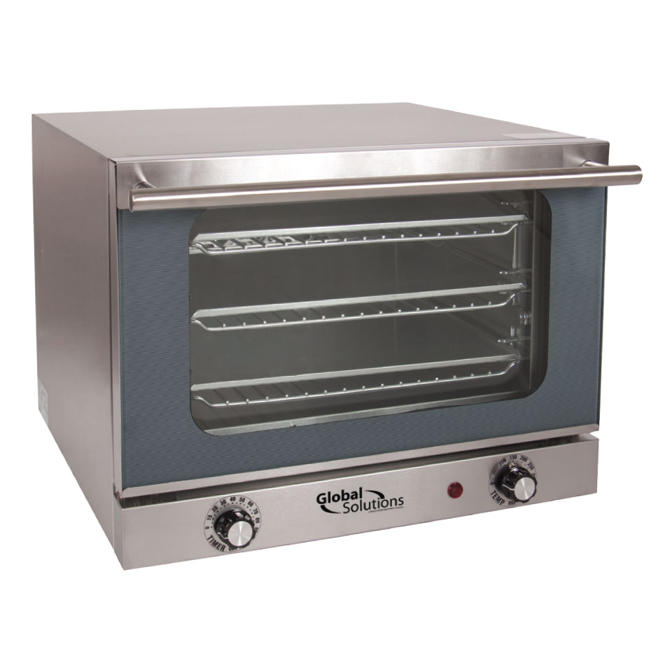Global Solutions GS1200 Global Solutions Half Size Electric Convection Oven - 120v