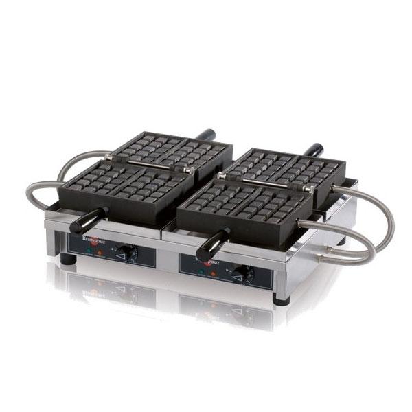 "Krampouz WECCHBAT Krampouz Double Waffle Maker, Cast Steel Irons, 4 x 7"", 240v/1ph"