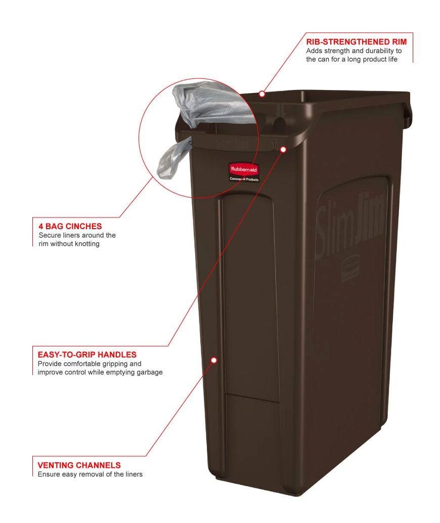 Rubbermaid 1956187 Features