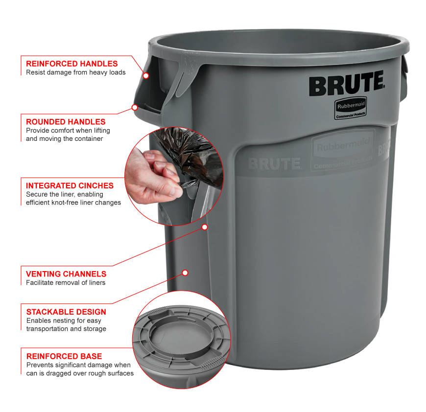 Rubbermaid 2620g Features