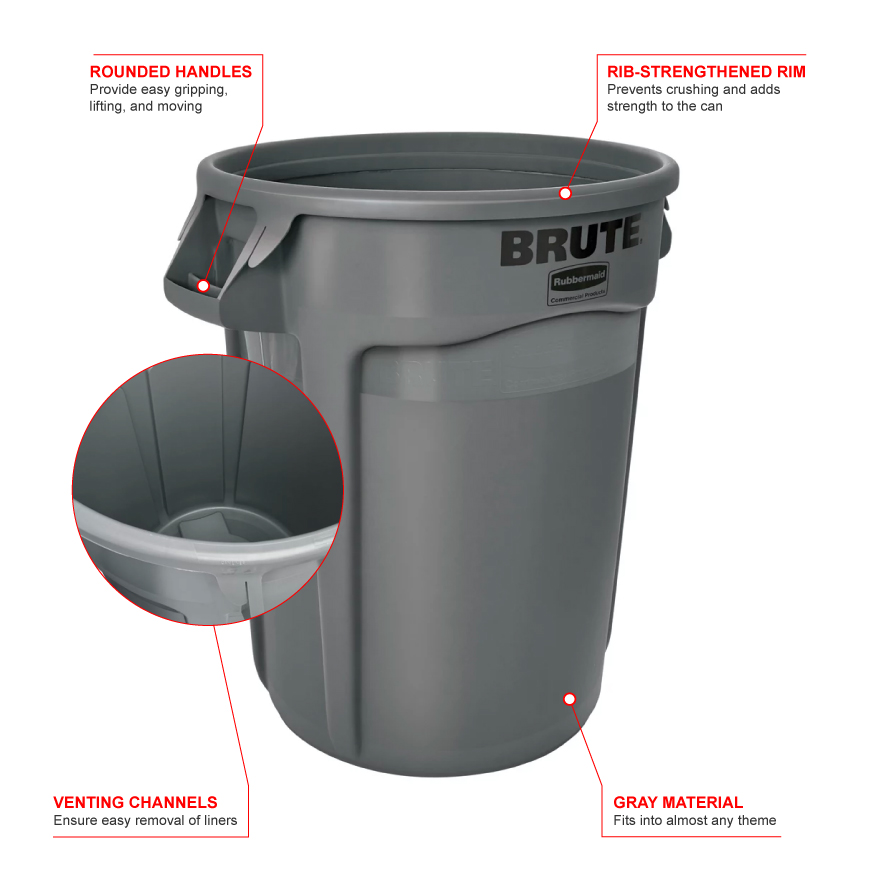 Rubbermaid 2632g Features