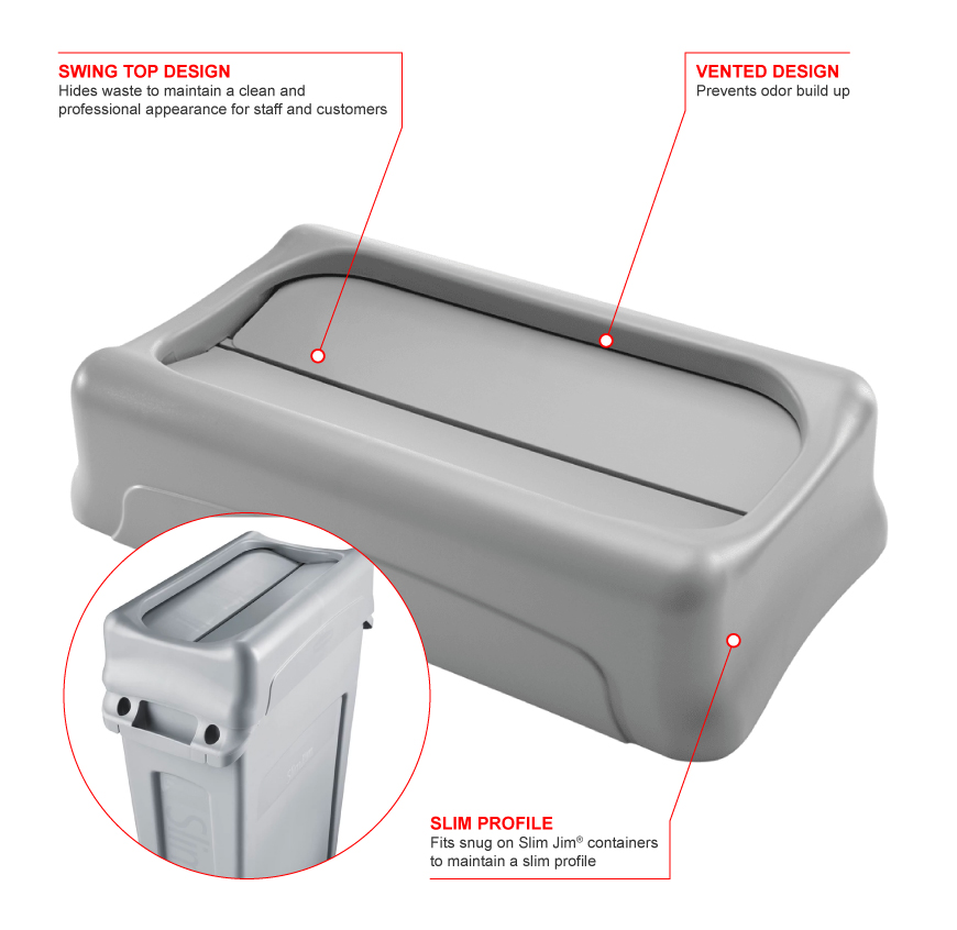 Rubbermaid 267360gray Features