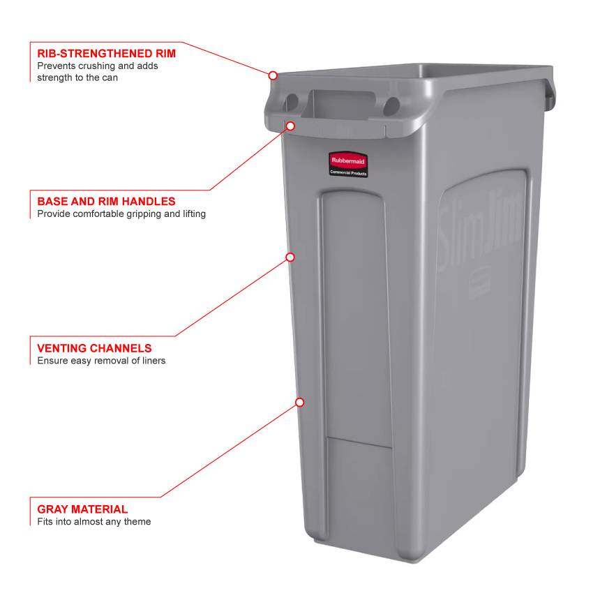 Rubbermaid 354060gray Features