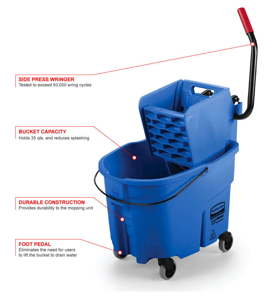 Rubbermaid 758888bl Features