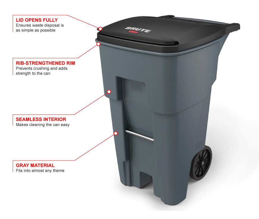 Rubbermaid 9w21g Features