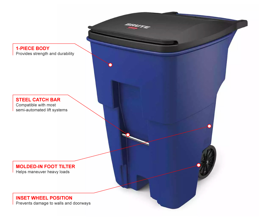 Rubbermaid 9w2273blue Features