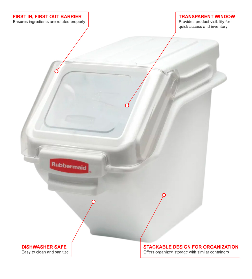 Rubbermaid fg9g5700wht Features