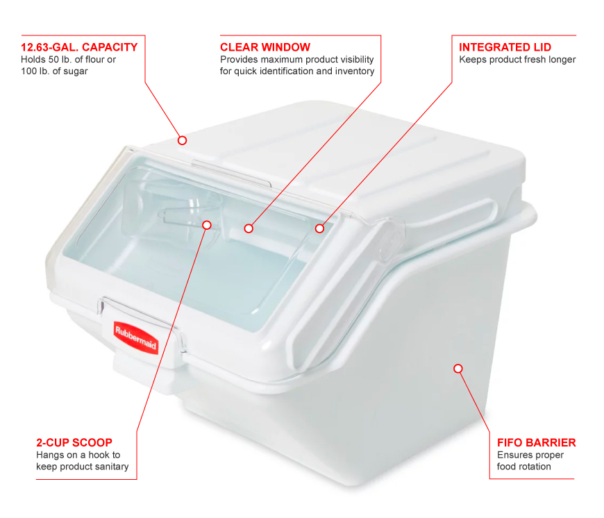 Rubbermaid fg9g5800wht Features