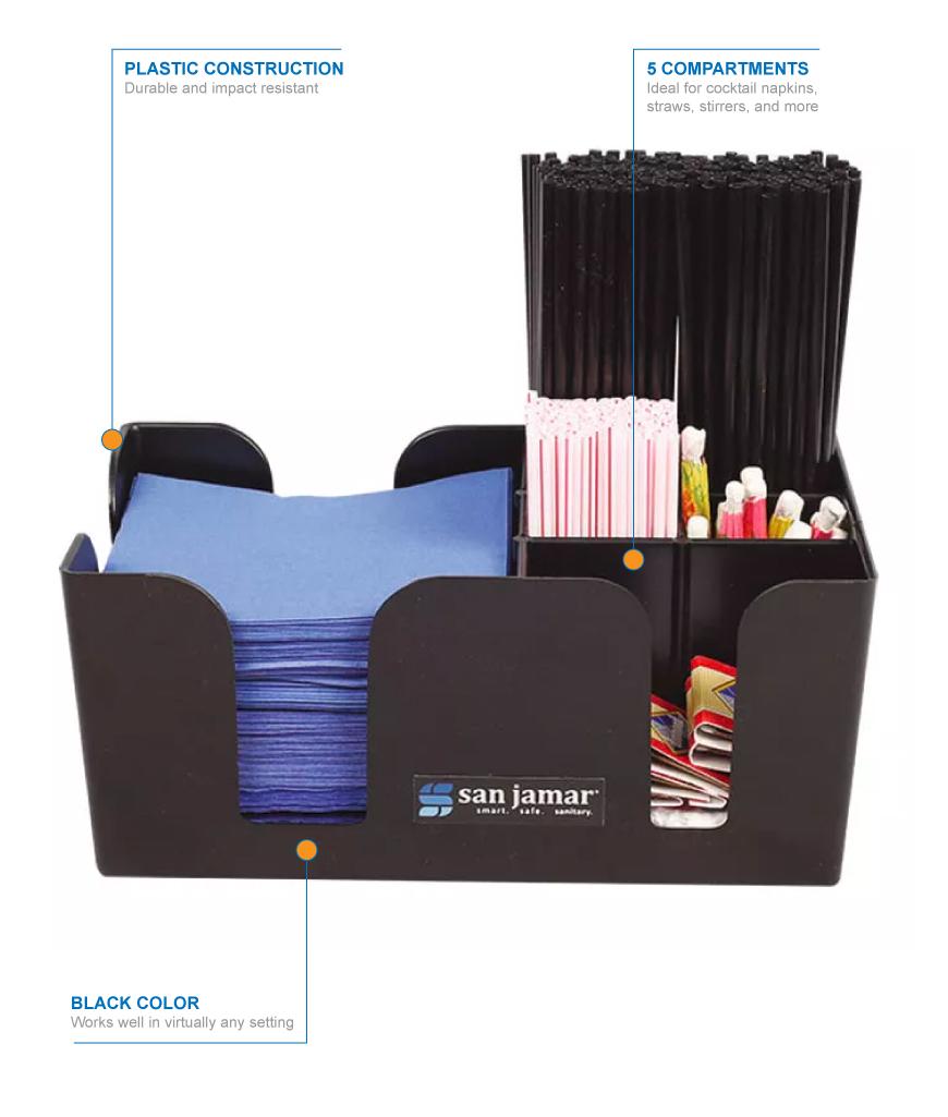 Super San Jamar B400Bk Plastic Bar Caddy W 5 Compartments Black Download Free Architecture Designs Scobabritishbridgeorg