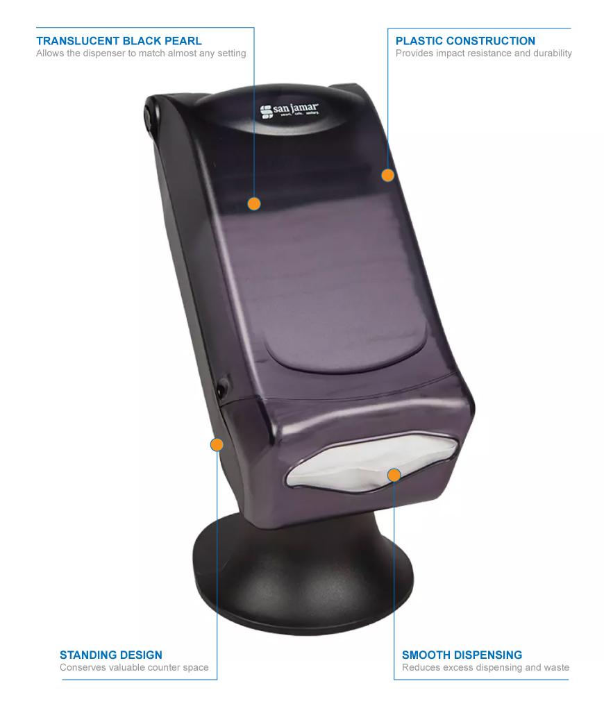San Jamar h5005stbk Features