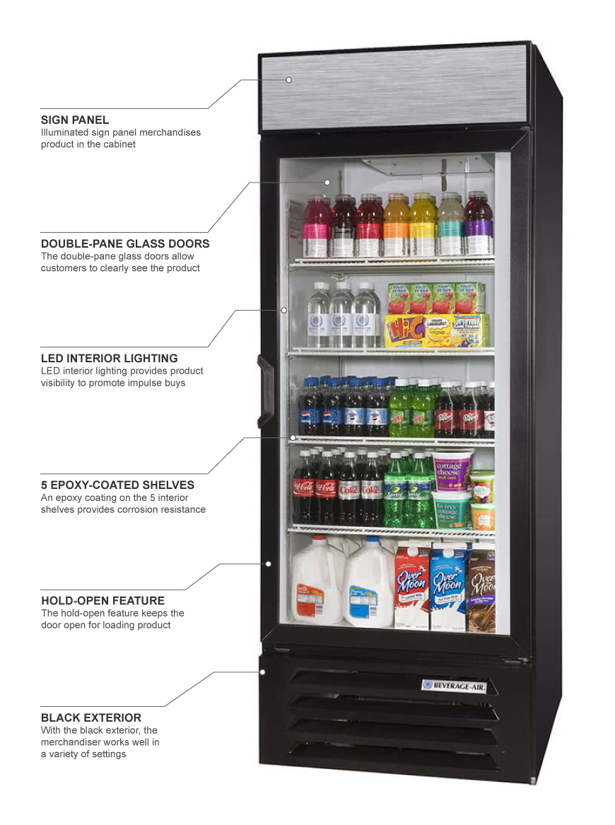 Beverage Air lv27hc1b Features