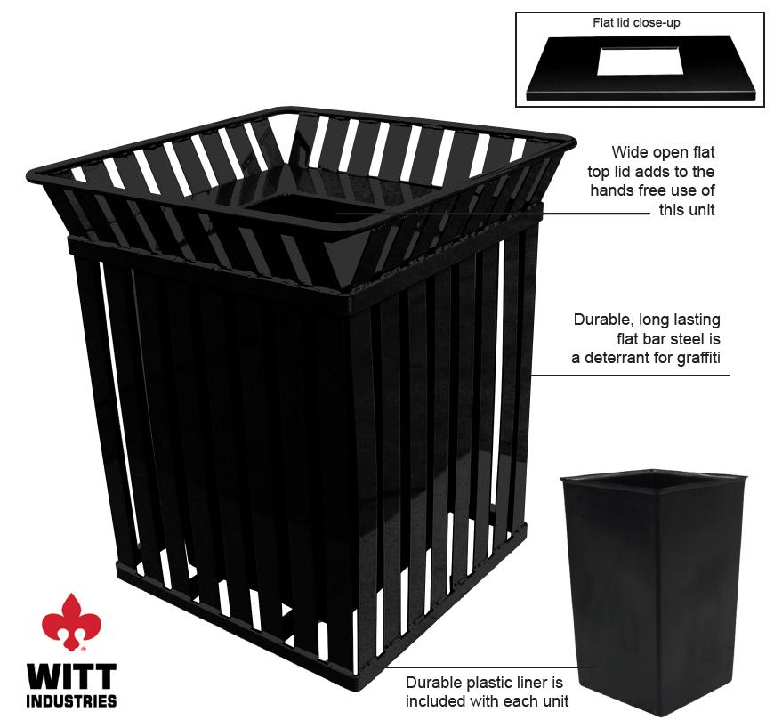 Witt Industries m3601sqftbk Features