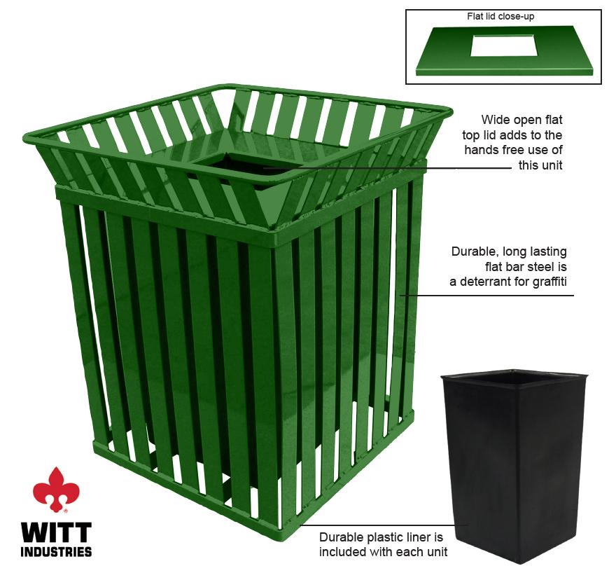 Witt Industries m3601sqftgn Features