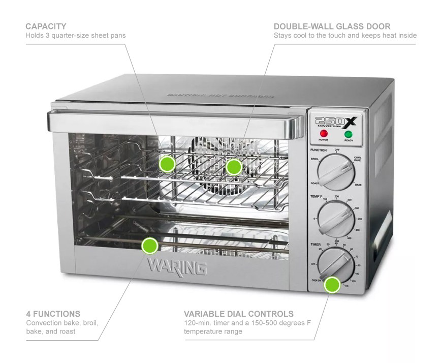 Waring WCO250 Features