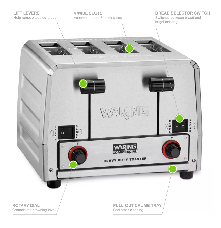 Waring WCT850Rc Features