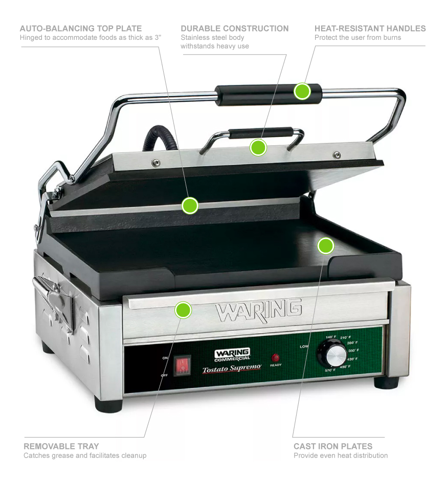Waring WFG275T Features