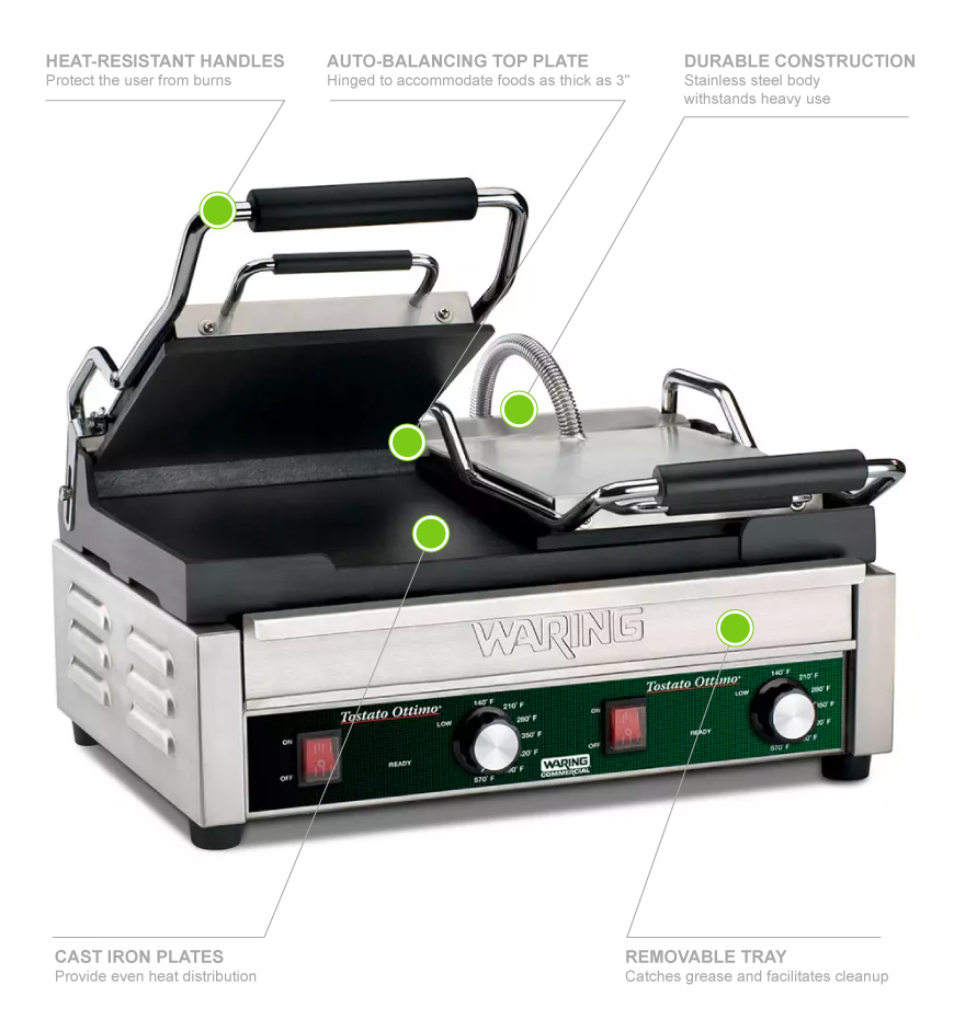 Waring WFG300 Features