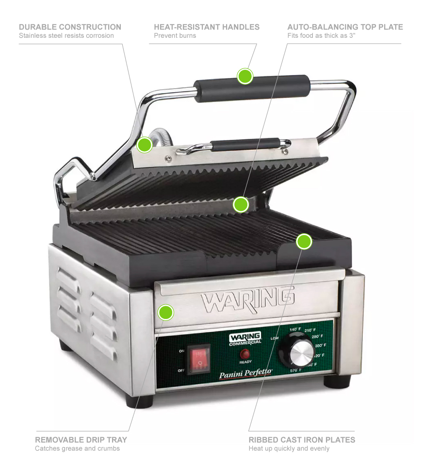 Waring WPG150B Features
