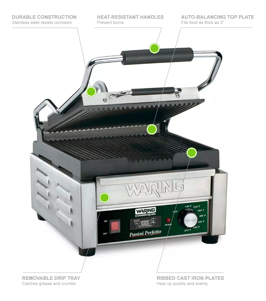 Waring WPG150T Features
