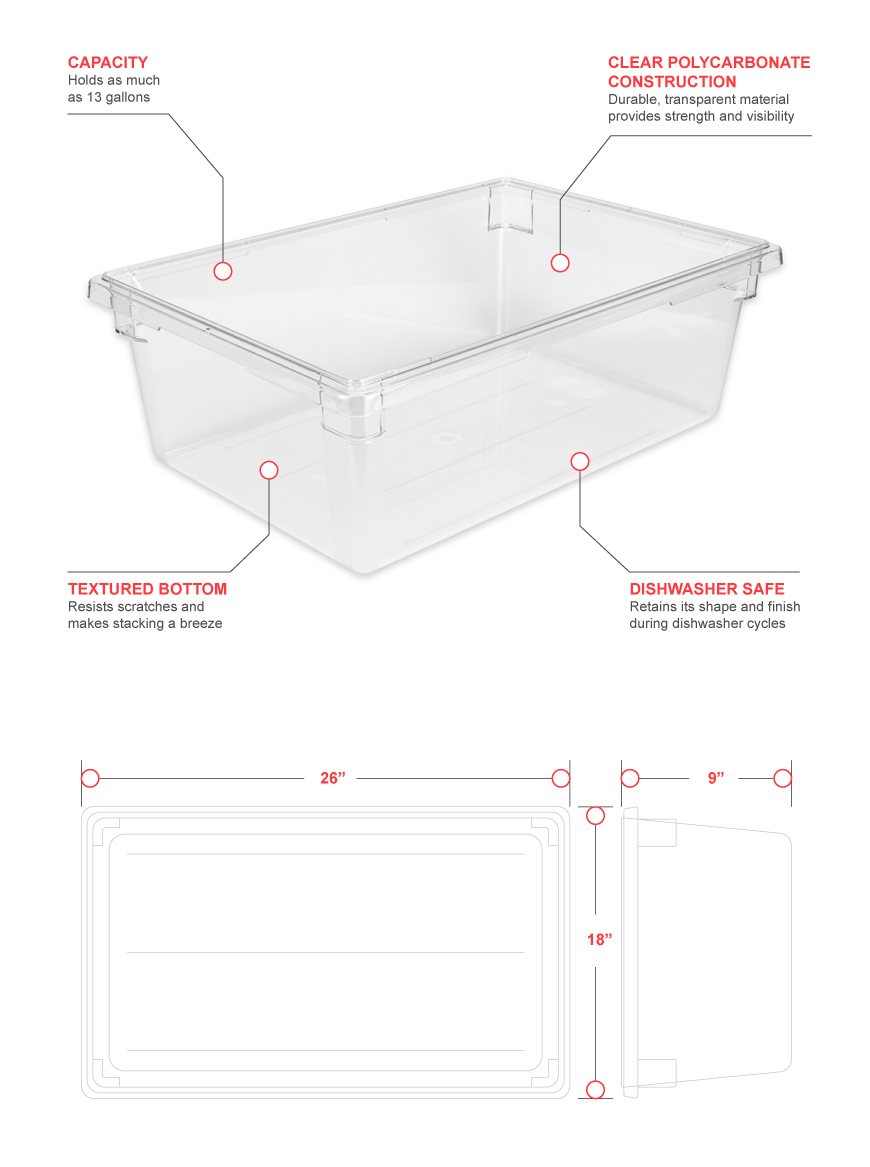 Cambro 18269cw135 Features