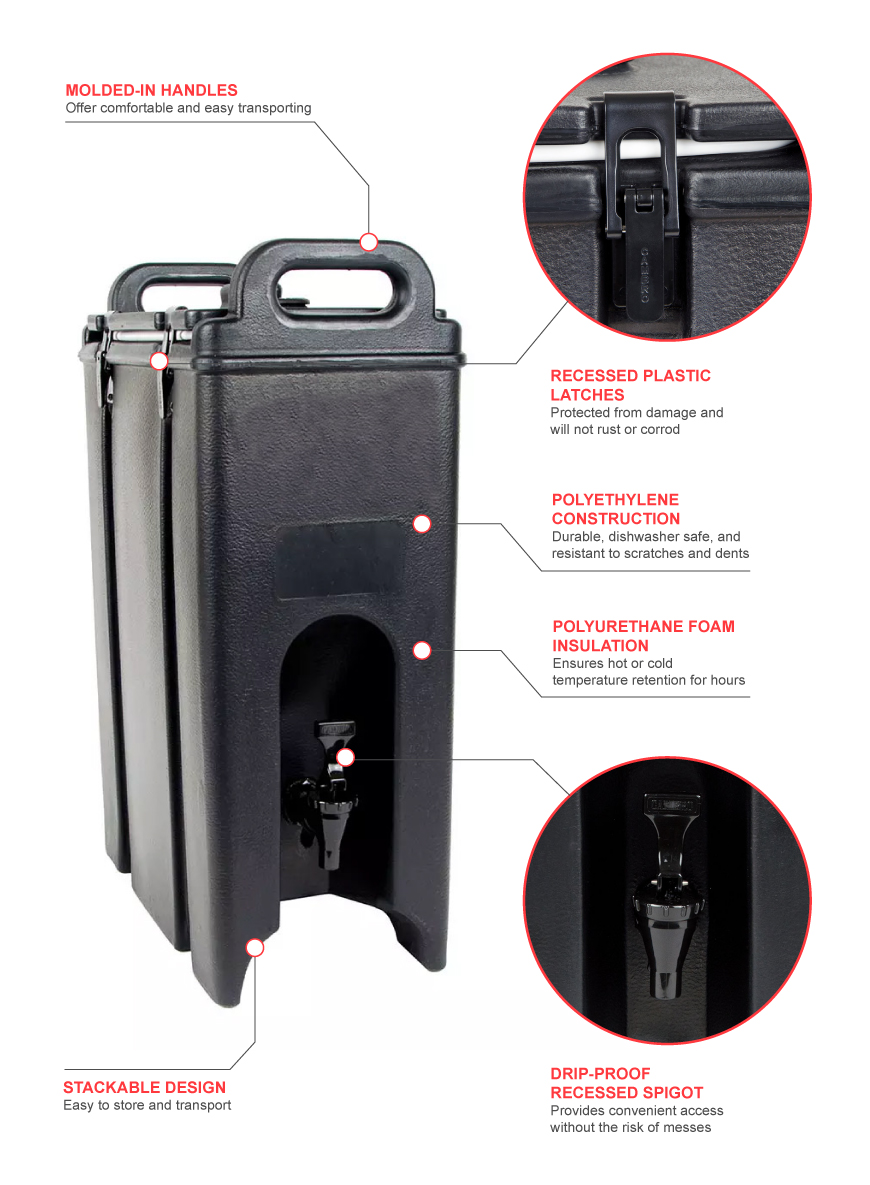 Cambro 500lcd110 Features