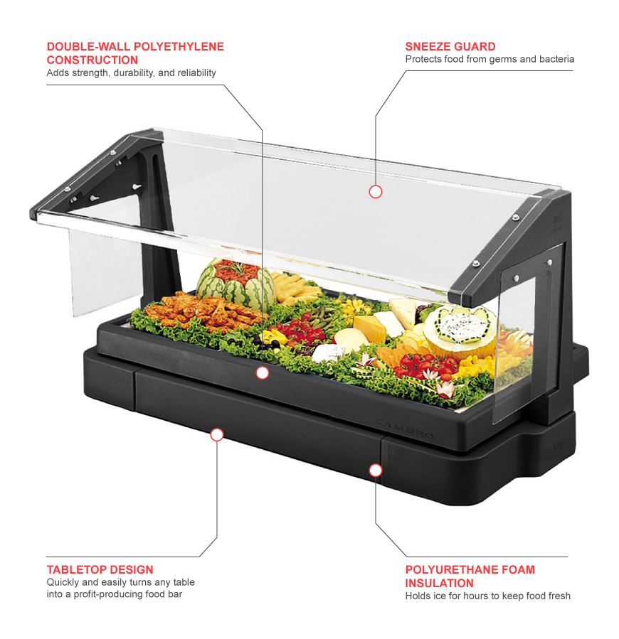 Cambro bbr480110 Features