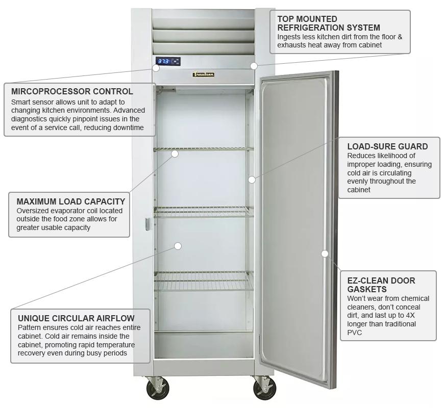 Traulsen g12010 Features
