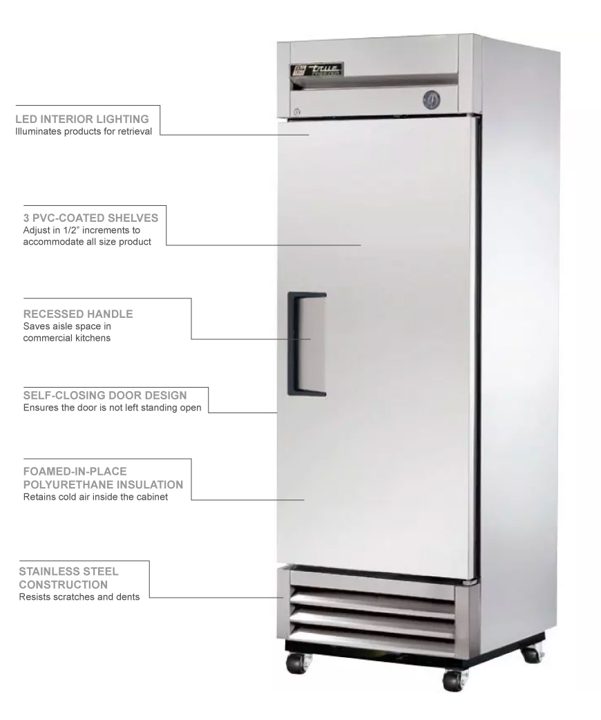 True Refrigeration T19F Features