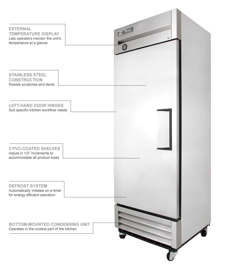 True Refrigeration T19LH Features