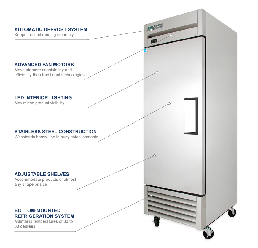 True Manufacturing t23lh Features