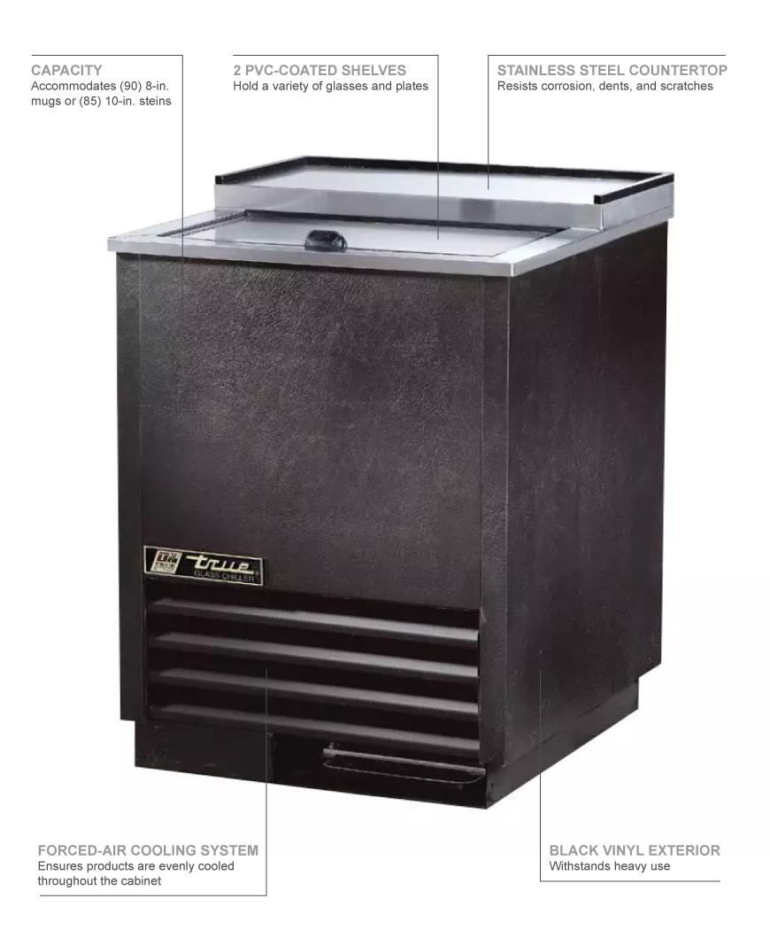 True Refrigeration T24GC Features