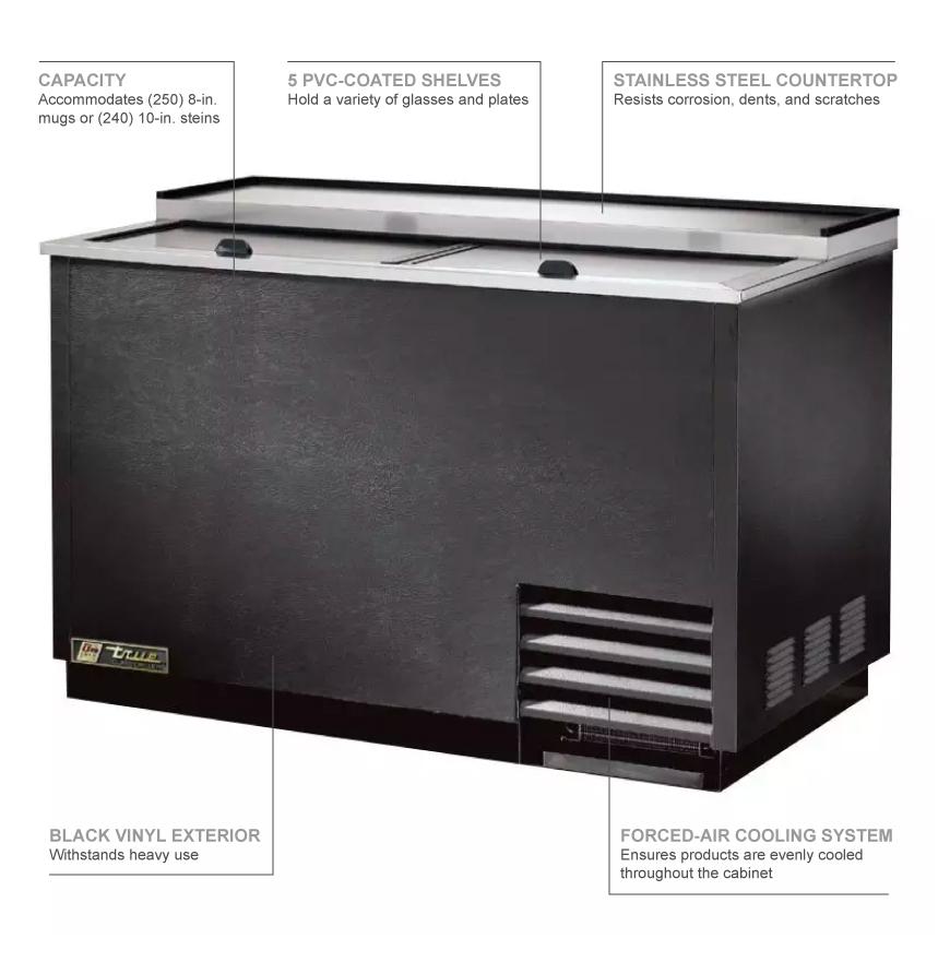 True Refrigeration T50GC Features
