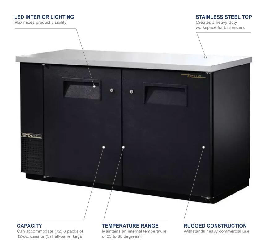 True Manufacturing tbb2460 Features