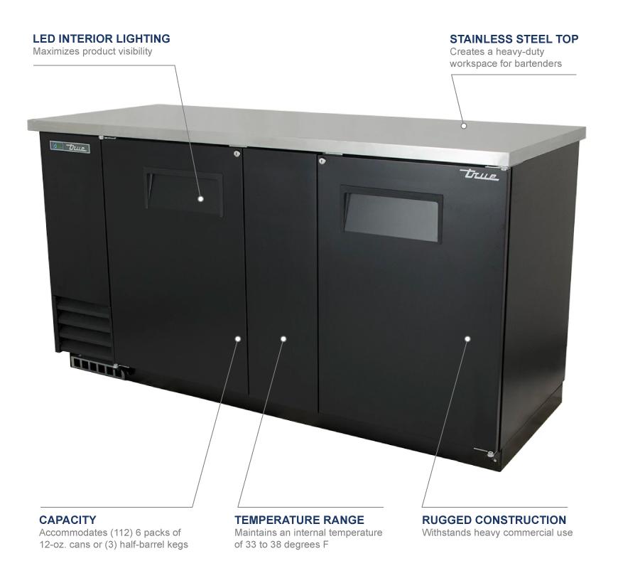 True Manufacturing tbb3 Features