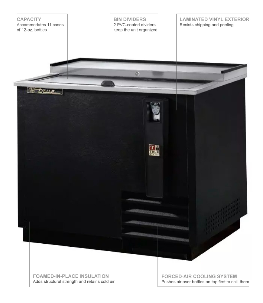 True Refrigeration TD3612 Features