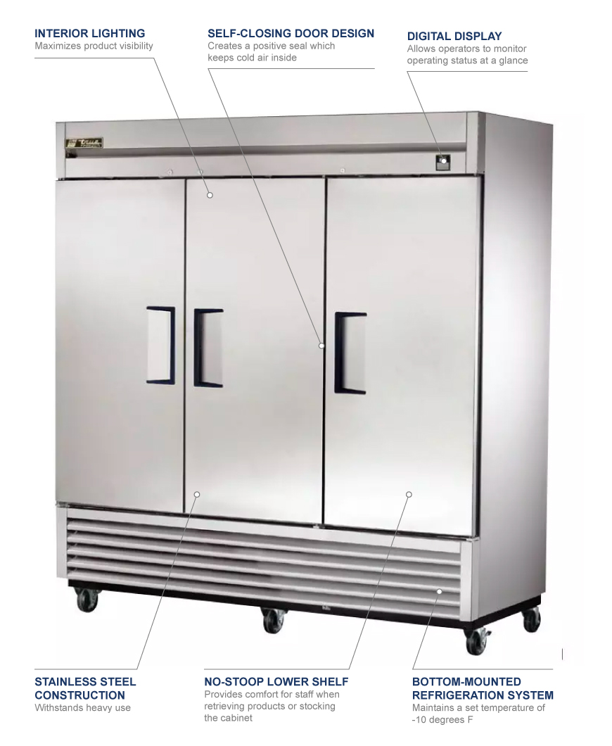 True Manufacturing ts72f Features