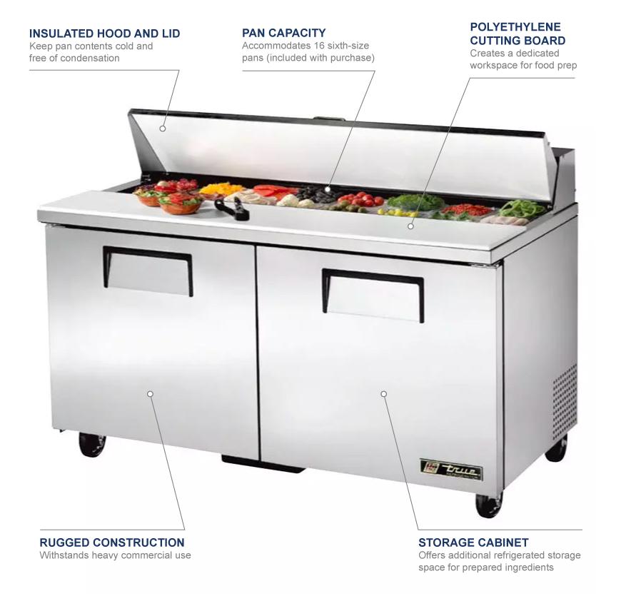 True Manufacturing tssu6016 Features