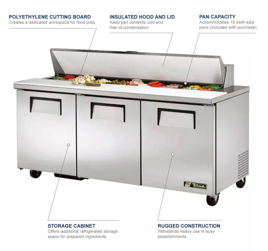 Outstanding True Tssu 72 18 Hc 72 Sandwich Salad Prep Table W Refrigerated Base 115V Home Remodeling Inspirations Genioncuboardxyz