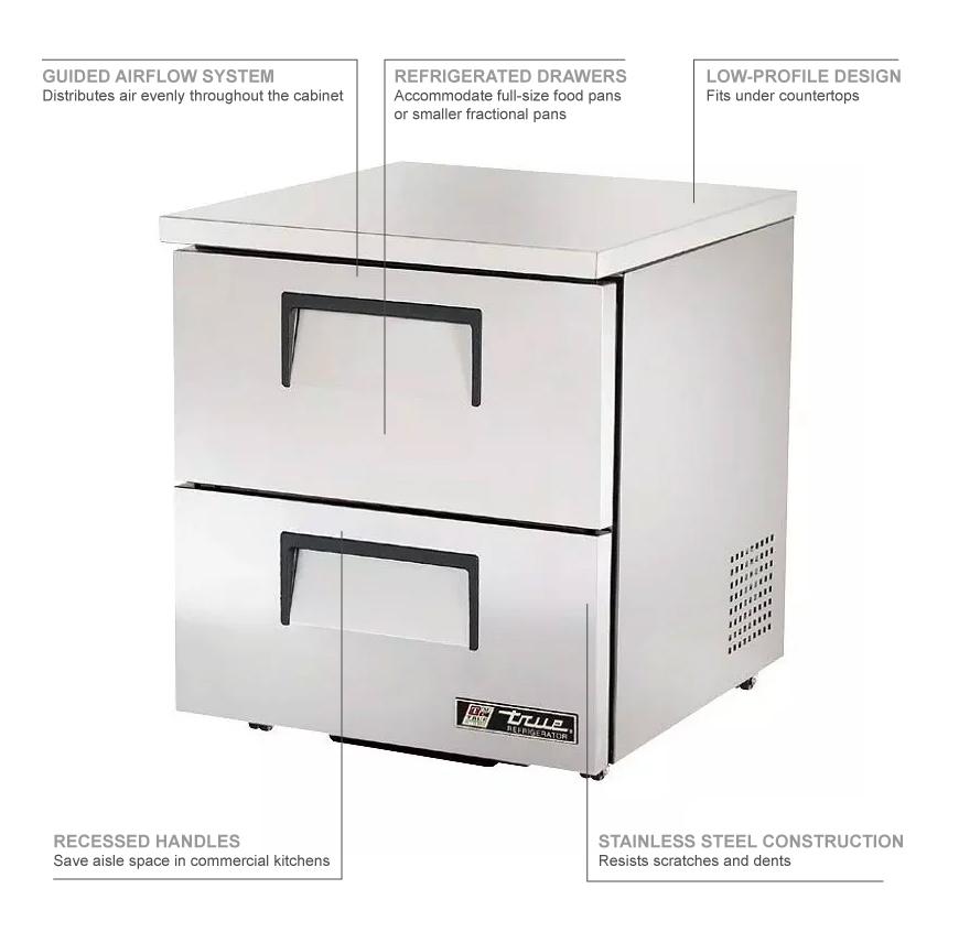 True Refrigeration TUC27D2LP Features