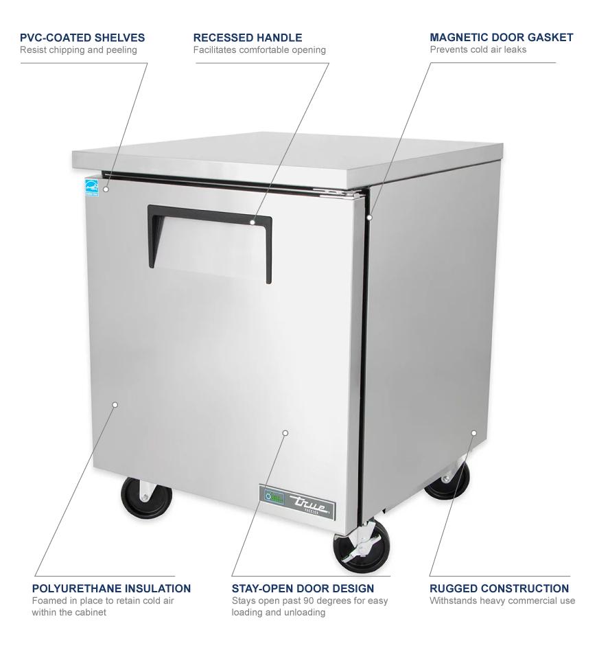 True Manufacturing tuc27f Features