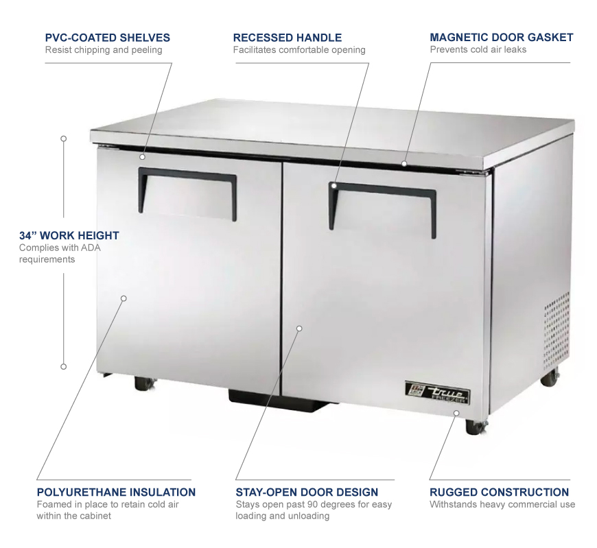 True Manufacturing tuc48fada Features
