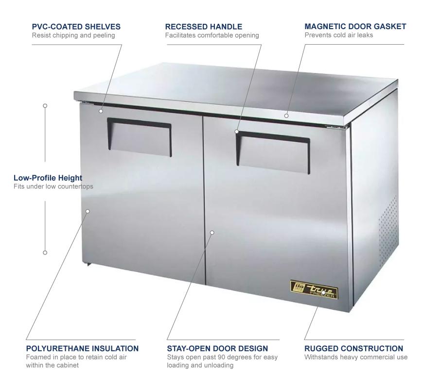 True Manufacturing tuc48flp Features